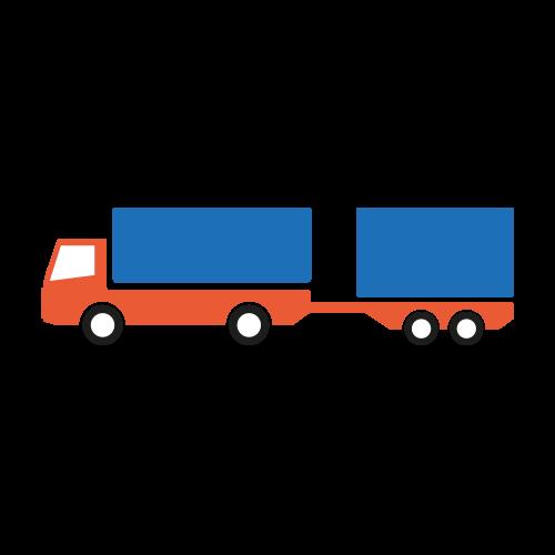 Combinatie vrachtwagen